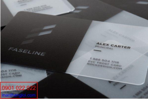 Danh thiếp thẻ nhựa